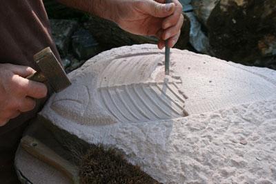 Relief und Skulptur